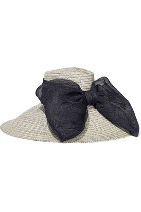 EUGENIA KIM Mirabel bow-embellished straw sunhat