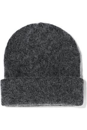 GANNI Brushed knitted beanie