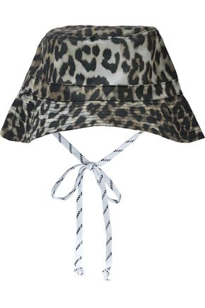 GANNI Leopard-print rubber bucket hat