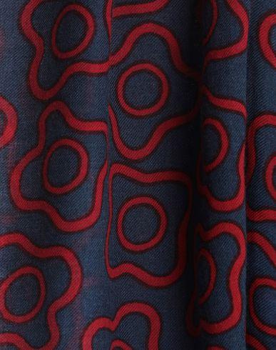Фото 2 - Женский платок  грифельно-синего цвета
