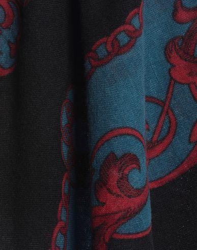 Фото 2 - Женский платок  черного цвета