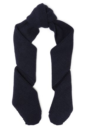 SANDRO リブ編みウール混 スカーフ