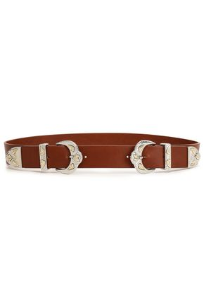 MAJE Gold and silver-tone leather belt