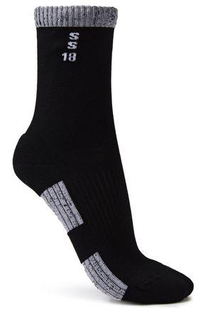 RICK OWENS Two-tone intarsia stretch-cotton socks