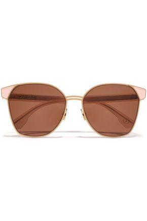 ZANZAN Mazzini round-frame gold-tone and enamel sunglasses