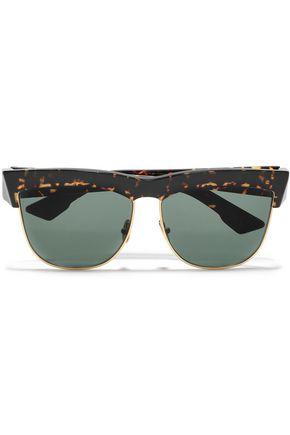 ZANZAN D-frame tortoiseshell acetate sunglasses