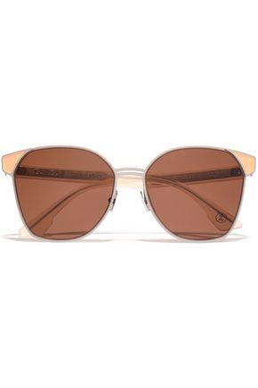 ZANZAN Mazzini round-frame silver-tone and enamel sunglasses