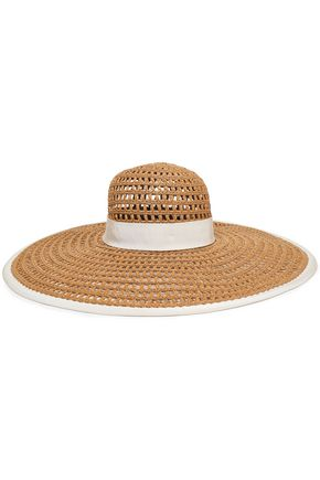 EUGENIA KIM قبعة واقية من الشمس مزينة بقماش غروسغراين
