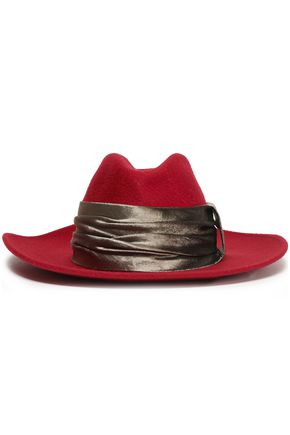 BRUNELLO CUCINELLI ベルベットトリム カシミヤフェルト ソフト帽