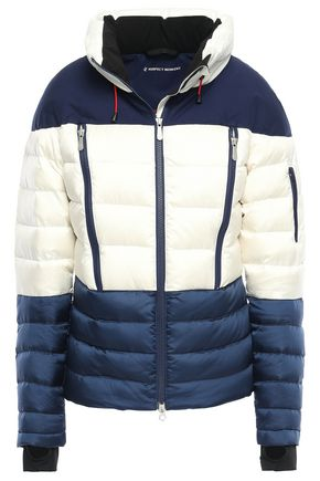PERFECT MOMENT Two-tone quilted shell down jacket