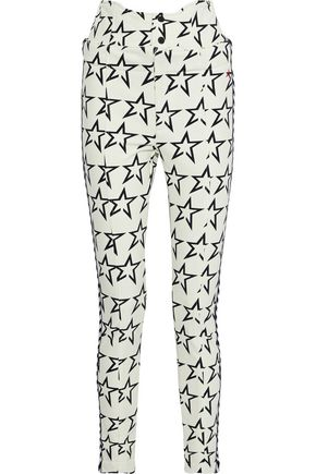 PERFECT MOMENT Convertible printed shell slim-leg ski pants