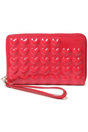 MARC JACOBS Embossed patent-leather wallet
