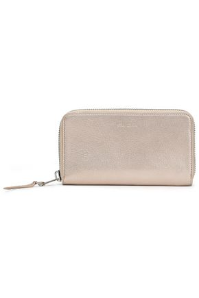 RICK OWENS Metallic textured-leather wallet