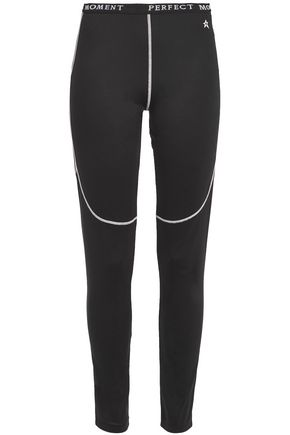 PERFECT MOMENT Embroidered stretch ski leggings