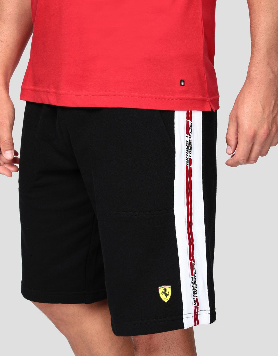 Scuderia Ferrari Online Store - Men's shorts in French Terry - Shorts