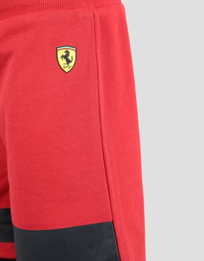 Scuderia Ferrari Online Store - Children's cotton fleece shorts with inserts - Shorts