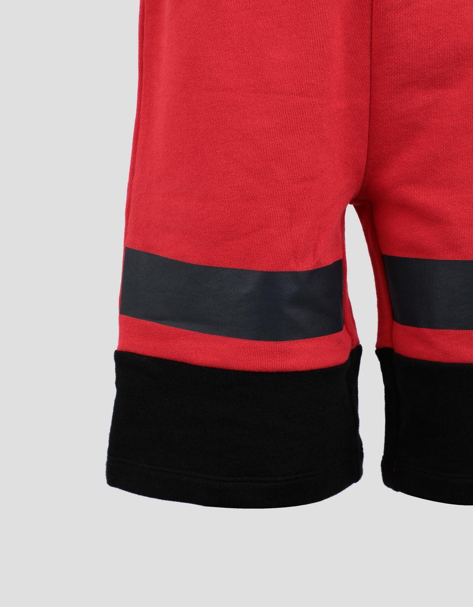 Scuderia Ferrari Online Store - Jungen-Shorts aus Baumwollsweatstoff mit Einsätzen - Shorts