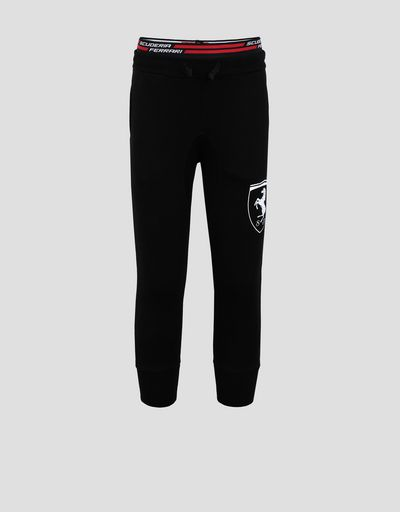 Girls' sweatpants with large Ferrari Shield