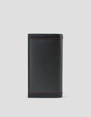 Scuderia Ferrari Online Store - EVO vertical carbon wallet made in Italy - Vertical Wallets
