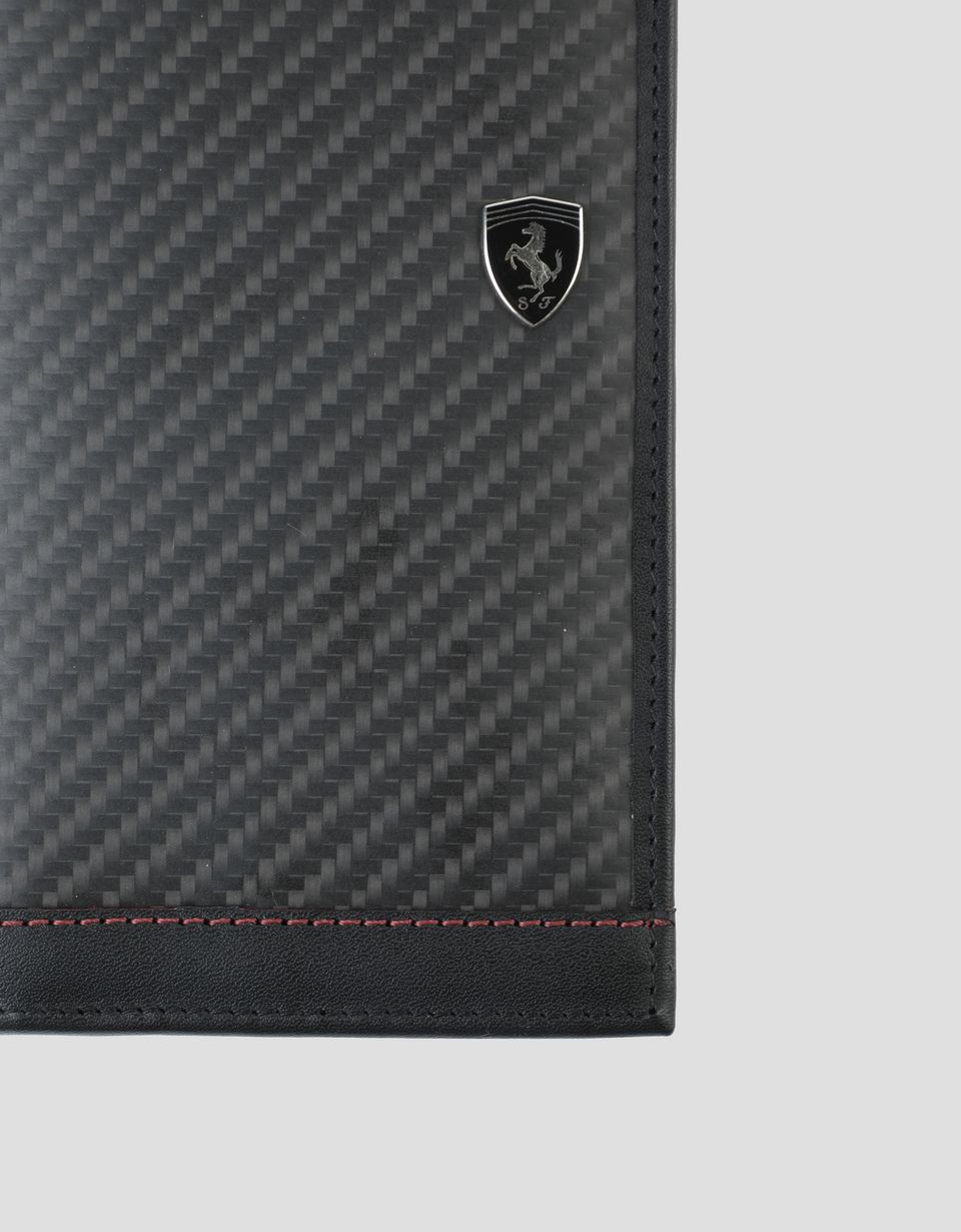 Scuderia Ferrari Online Store - Vertical EVO carbon wallet made in Italy - Vertical Wallets
