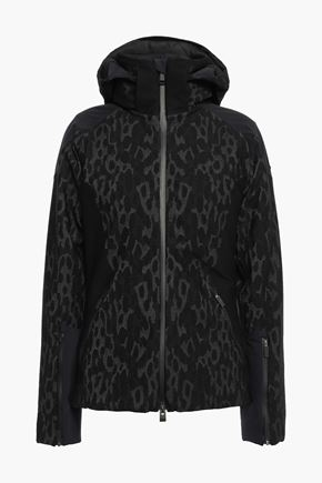 KJUS Freelite shell-paneled jacquard-knit hooded jacket