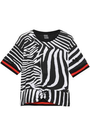 P.E NATION ツイスト入り フロック加工 ゼブラプリントコットンジャージー Tシャツ