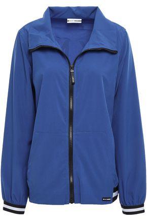DKNY Printed stretch-jersey track jacket