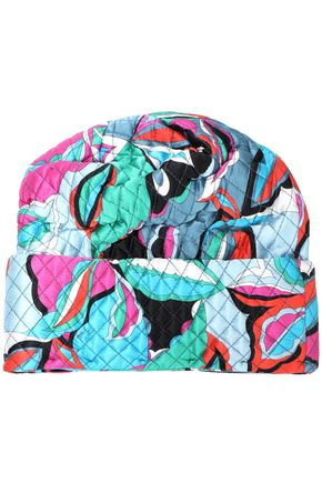 EMILIO PUCCI Printed quilted silk-blend satin beanie