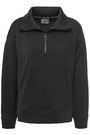 DKNY Zip-detailed French-terry sweatshirt