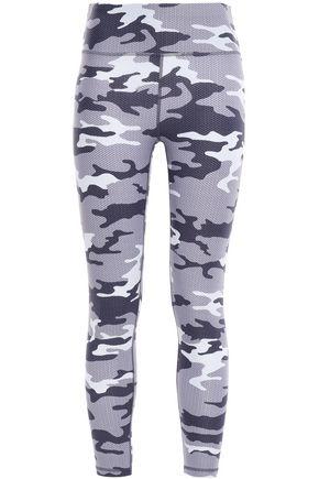 DKNY Printed stretch-jersey leggings