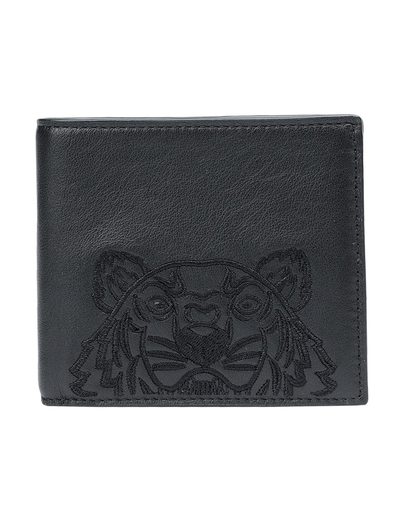 《セール開催中》KENZO メンズ 財布 ブラック 牛革 100% PORTEFEUILLE