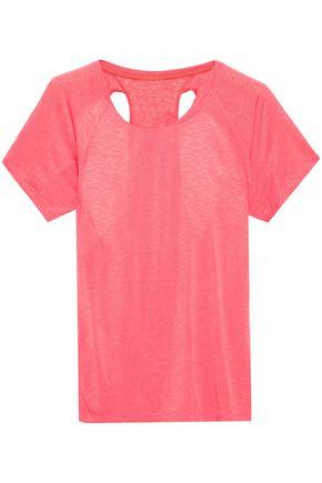 ADIDAS Cutout slub jersey T-shirt