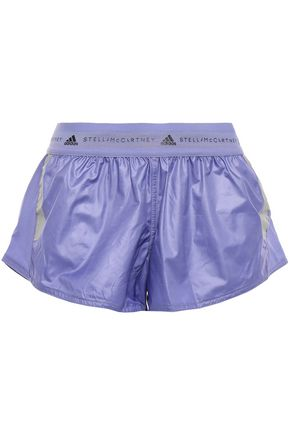 ADIDAS by STELLA McCARTNEY Run Az mesh-trimmed printed shell shorts