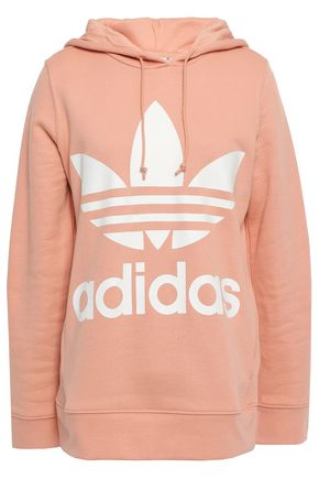 ADIDAS ORIGINALS Printed French cotton-terry hoodie