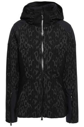 KJUS Freelite shell-paneled jacquard-knit hooded jacket