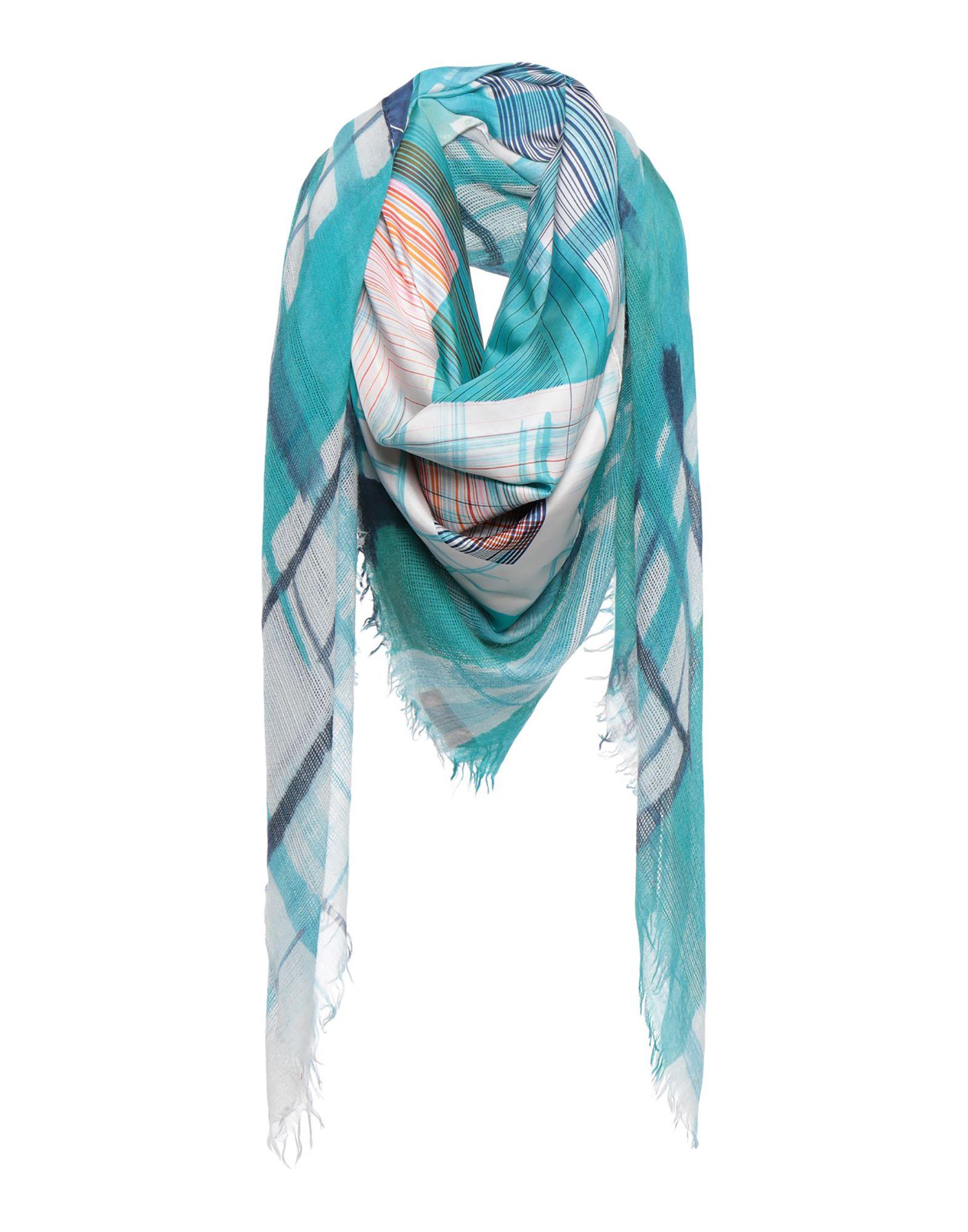 《期間限定セール開催中!》DIANORA SALVIATI レディース スカーフ ターコイズブルー カシミヤ 50% / シルク 50%
