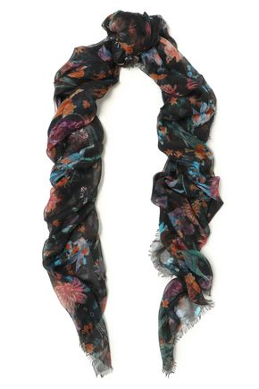 IRO Follow printed modal and silk-blend gauze scarf