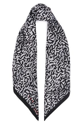 IRO Randy printed silk satin-twill scarf