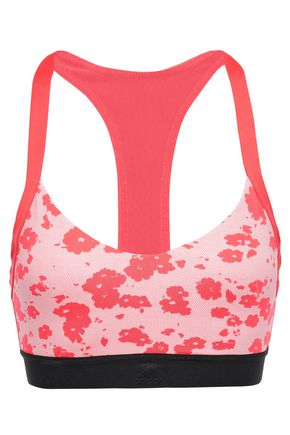 ADIDAS All Me mesh-trimmed floral-print stretch sports bra