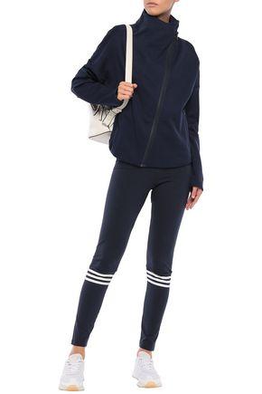 Adidas Originals Cotton-blend Jersey Track Jacket In Navy