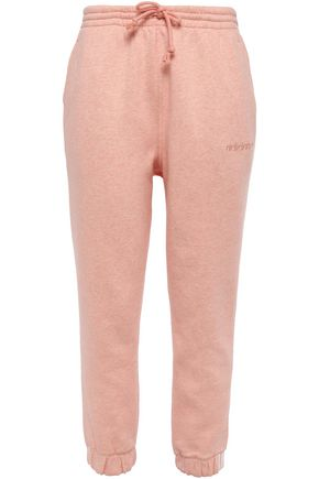 ADIDAS ORIGINALS Mélange cotton-blend fleece track pants