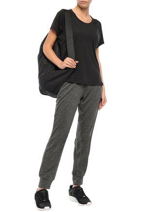 Adidas Originals T-shirts ADIDAS WOMAN TEXTURED-JERSEY T-SHIRT BLACK