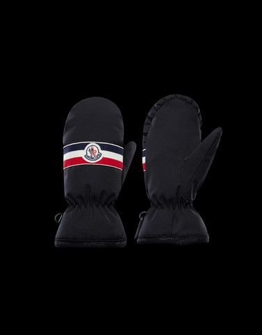 MITTENS Black Junior 8-10 Years - Boy Woman