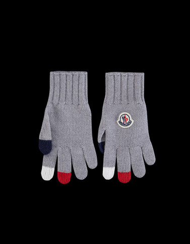 GLOVES Grey Junior 8-10 Years - Girl
