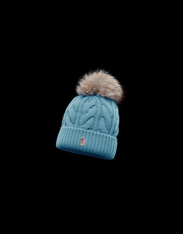 POMPOM BEANIE Turquoise Grenoble Hats Woman