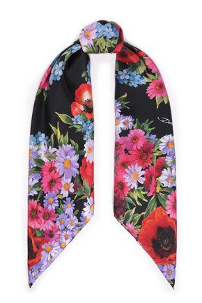 DOLCE & GABBANA Floral-print silk-satin twill scarf