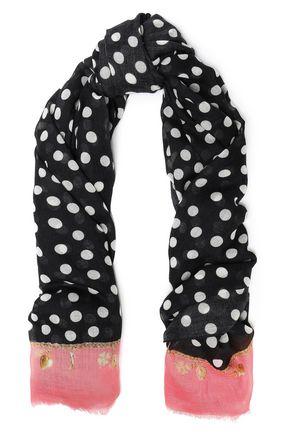 DOLCE & GABBANA Frayed printed cashmere scarf