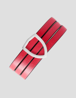 Scuderia Ferrari Online Store - Women's bracelet Made in Italy in leather and bronze - Pendants & Bracelets