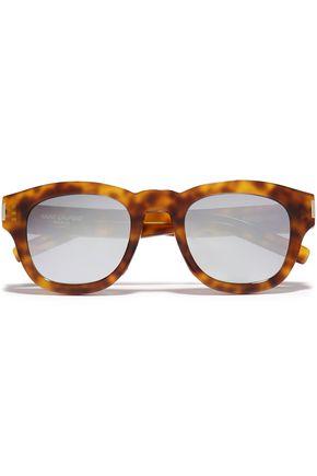 SAINT LAURENT D-frame tortoiseshell acetate sunglasses