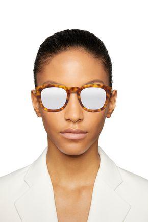 Saint Laurent Woman D-Frame Tortoiseshell Acetate Sunglasses Light Brown